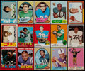 Football Cards:Lots, 1959-1972 Football Stars & HoFers Collection (15)....