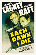 "Movie Posters:Crime, Each Dawn I Die (Warner Brothers, 1939). One Sheet (27"" X 41"").. ..."