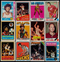 Basketball Cards:Lots, 1957-1975 Topps Basketball & Hockey Collection (21) With Stars& HoFers....