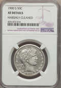 Barber Half Dollars, 1900-S 50C -- Harshly Cleaned -- NGC Details. XF. NGC Census: (5/83). PCGS Population (29/224). Mintage: 2,560,322. Num...