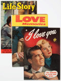 Golden Age (1938-1955):Romance, Comic Books - Assorted Golden Age Romance Comics File Copies Group of 3 (Various Publishers, 1950s) Condition: Average VG/FN.... (Total: 3 Comic Books)