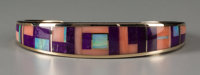 A Navajo Gold and Stone Bracelet Ray Tracey c. 2000