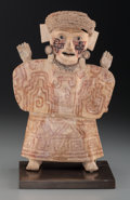 Pre-Columbian:Ceramics, A Vera Cruz Figure with Crosses on Her Face. c. 600 - 900 AD ...