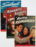 Golden Age (1938-1955):Romance, Comic Books - Assorted Golden Age Romance Comics Group of 3(Various Publishers, 1950s) Condition: Average VF+.... (Total: 3Comic Books)
