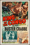 """Movie Posters:Serial, King of the Congo (Columbia, 1952). One Sheet (27"""" X 41"""") Chapter 3 --""""Into the Valley of Mist."""" Serial.. ..."""