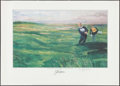 Golf Collectibles:Autographs, Jack Nicklaus Signed Lithograph....
