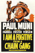 "Movie Posters:Film Noir, I Am a Fugitive From a Chain Gang (Warner Brothers, 1932). Leader Press One Sheet (27"" X 41"")...."