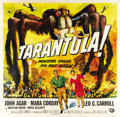 "Movie Posters:Science Fiction, Tarantula (Universal International, 1955). Six Sheet (81"" X 81"")...."