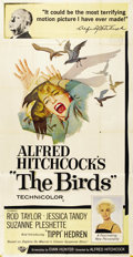 "Movie Posters:Hitchcock, The Birds (Universal, 1963). Three Sheet (41"" X 81""). ..."