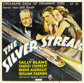 "Movie Posters:Action, The Silver Streak (RKO, 1934). Six Sheet (81"" X 81"")...."