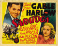 """Movie Posters:Comedy, Saratoga (MGM, 1937). Title Lobby Card and Lobby Card (11"""" X 14"""").... (Total: 2 Items)"""