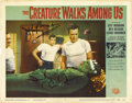 "Movie Posters:Science Fiction, The Creature Walks Among Us (Universal International, 1956).Autographed Lobby Card (11"" X 14""). ..."