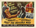 """Movie Posters:Comedy, Abbott and Costello Meet the Invisible Man (Universal International, 1951). Half Sheet (22"""" X 28"""") Style B. ..."""