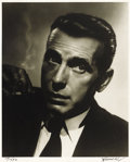 "Movie Posters:Miscellaneous, Humphrey Bogart/George Hurrell Studio Portrait (Warner Brothers,1937). Still (16"" X 20"")...."