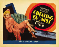 """Cheating Blondes (Equitable Pictures, 1933). Title Lobby Card (11"""" X 14"""")"""