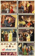 "Movie Posters:Drama, All About Eve (20th Century Fox, 1950). Lobby Card Set of 8 (11"" X14""). ... (Total: 8 Items)"