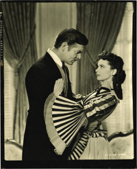 "Hollywood Vintage Still - Clark Gable and Vivien Leigh in ""Gone with the Wind"" by Clarence Sinclair Bull (MGM..."
