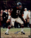 Football Collectibles:Photos, Dick Butkus Signed Oversized Photograph....