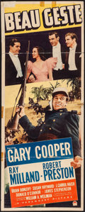 "Movie Posters:Adventure, Beau Geste (Paramount, 1939). Insert (14"" X 36""). Adventure.. ..."