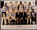 Basketball Collectibles:Photos, 1959 Boston Celtics Team Signed Oversized Photograph....