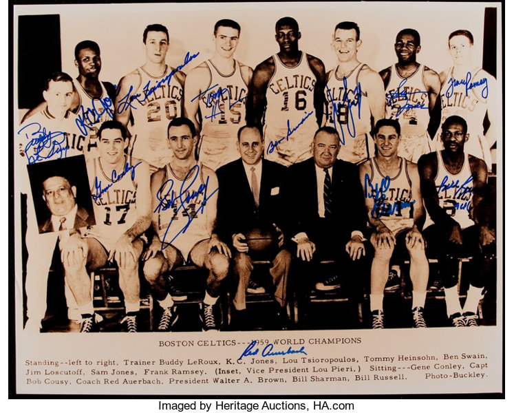 1959 Boston Celtics Team Signed Oversized Photograph.... Basketball ... 750e2f2e6