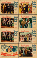 "Movie Posters:Musical, Yankee Doodle Dandy (Warner Brothers, 1942). Linen Finish Title Lobby Card & Lobby Cards (7) (11"" X 14""). Musical.. ... (Total: 8 Items)"