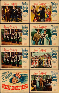 "Yankee Doodle Dandy (Warner Brothers, 1942). Linen Finish Title Lobby Card & Lobby Cards (7) (11"" X 14""..."