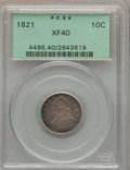Bust Dimes: , 1821 10C Large Date XF40 PCGS. PCGS Population (27/170). NGCCensus: (10/144). Mintage: 1,186,512. Numismedia Wsl. Price fo...