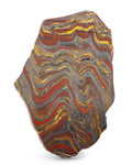 Lapidary Art:Carvings, Polished Tiger Iron Slab. Ord Ranges. Pilbara. WesternAustralia. 8.27 x 5.59 x 0.69 inches (21.00 x 14.20 x 1.74 cm)....