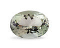 Gems:Faceted, Gemstone: Prasiolite - 12.78 Ct.. Brazil. 18.5 x 13.8 x 10.2 mm. ...
