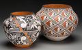 American Indian Art:Pottery, Two Acoma Polychrome Jars . Florence Aragon and Grace T. Chino. c.1980. ... (Total: 2 Items)