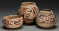 American Indian Art:Pottery, Three Casas Grande Polychrome Jars. c. 1100 - 1200 AD. ... (Total:3 )