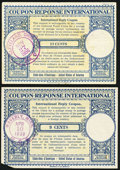 Miscellaneous:Other, International Reply Coupons.. ... (Total: 2 notes)