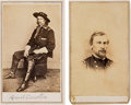 Photography:CDVs, Union Cartes-de-Visite: George Armstrong Custer and George Crook.... (Total: 2 Items)
