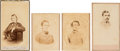 Photography:CDVs, Confederate Cartes-de-Visite: Alexander H. Stephens [Signed], William Smith, Martin Luther Smith and George Hume Steuart.... (Total: 4 Items)