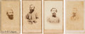 Photography:CDVs, Confederate Cartes-de-Visite: William Booth Taliaferro, Richard Taylor, Thomas Hart Taylor and J. E. B. Stuart.... (Total: 4 Items)