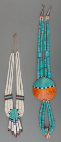 American Indian Art:Jewelry and Silverwork, Two Santo Domingo Stone and Shell Necklaces. Donald Crespin. c.1975... (Total: 2 Items)