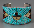 American Indian Art:Jewelry and Silverwork, A Navajo Silver, Stone and Shell Bracelet. Rita Benally. c. 1980...