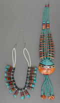 American Indian Art:Jewelry and Silverwork, Two Santo Domingo Stone and Shell Necklaces. Donald Crespin. c.1990... (Total: 2 Items)