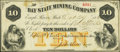 Obsoletes By State:Michigan, Eagle River, MI- Bay State Mining Company $10 Oct. 27, 1866...