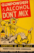 Memorabilia:Poster, Will Eisner - Gun Safety Poster Group of 3 (Sporting Arms, c.1950s).... (Total: 3 Items)