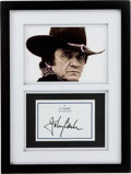 Music Memorabilia:Autographs and Signed Items, Johnny Cash Signed Bookplate for Cash The Autobiography inFramed Display....