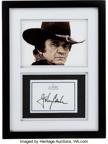 Johnny Cash Signed Bookplate for Cash The Autobiography in Framed ...