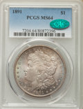 Morgan Dollars: , 1891 $1 MS64 PCGS. CAC. PCGS Population (1967/164). NGC Census: (1186/111). Mintage: 8,694,206. Numismedia Wsl. Price for p...