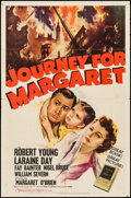 "Movie Posters:War, Journey for Margaret (MGM, 1942). One Sheet (27"" X 41"") Style C.War.. ..."