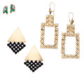 Estate Jewelry:Earrings, Emerald, Black Onyx, Diamond, Gold Earrings. ... (Total: 6 Items)