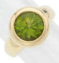 Estate Jewelry:Rings, Peridot, Gold Ring, Carelle. ...