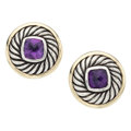 Estate Jewelry:Earrings, Amethyst, Gold, Sterling Silver Earrings, David Yurman. ... (Total:2 Items)