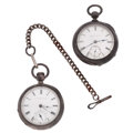 Timepieces:Pocket (pre 1900) , Illinois & Elgin Coin Silver Key Winds. ... (Total: 2 Items)