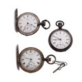 Timepieces:Pocket (pre 1900) , Two Waltham Silver & L.A. Favre Pocket Watches. ... (Total: 3Items)